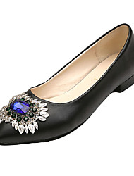 Women's Flats Spring Summer Fall Comfort PU Casual Low Heel Others Black Silver Gray Gold Other
