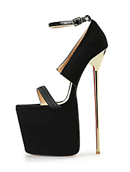 Women's Heels 22CM Heel Height Sexy Round Toe Stiletto Metal Heel Pumps Party Shoes
