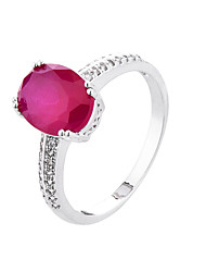 Ring AAA Cubic Zirconia Zircon Cubic Zirconia Alloy White Black Red Blue Jewelry Casual 1pc