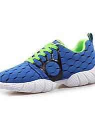 Men's Sneakers Spring Fall Comfort Tulle Casual Athletic Low Heel Black Dark Blue Light Blue