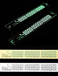 Car Sticker Temporary Car Parking Card Telephone Number Card Notification Night Light Sucker Plate Car Styling Phone Number Card