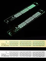 etiqueta do carro cartão de estacionamento de automóveis número de telefone cartão temporário luz de notificação noite otário placa do