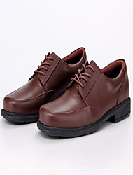 Men's Flats Spring Summer Fall Other Nappa Leather Wedding Outdoor Office & Career Casual Low Heel Lace-up Dark Brown Other