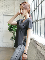 The new yoga movement overclothes female short sleeved summer sports jackets running back out