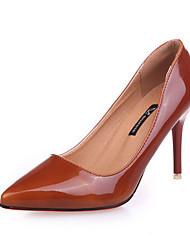 Для женщин Обувь на каблуках С Т-образной перепонкой Полиуретан Весна Повседневные Для прогулок С Т-образной перепонкой С отверстиямиНа
