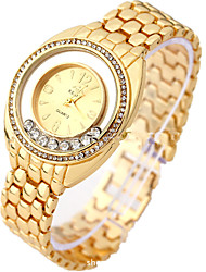 Damen Modeuhr Armband-Uhr digital Rose Gold überzogen Legierung Band Silber Gold Gold Silber