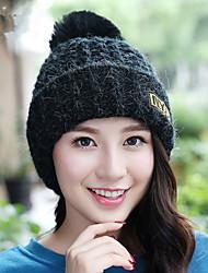 Winter New NYC Letter Superscript Plus Velvet Thickening Single Cap Wool Hat Women Warm Knit Hat Ear Hat