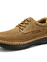 Men's Oxfords Spring Summer Fall Winter Comfort Nappa Leather Outdoor Office & Career Party & Evening Casual Work & Safety Khaki Hiking