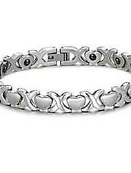 Men's Chain Bracelet Steel Heart Jewelry Silver Jewelry 1pc