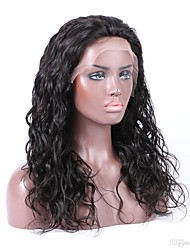 Top Grade Malaysian Virgin Hair Full Lace Wig Water Wave Natural Black Color Hair 100% Unprocessed Human Virgin Hair Lace Wig For Black Woman