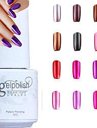 YeManNvYou®Metallic Mirror Effect Soak Off UV Gel Nail Polish No.13-24(5ml,Assorted Colors)