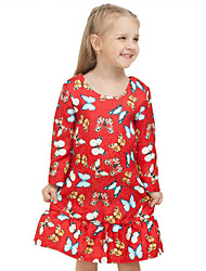 Girls Fashion Autumn New School  Printed Stitching Restoring Ancient Ways Princess Dress