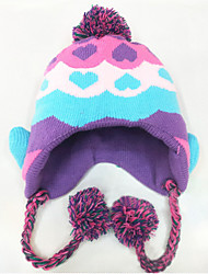 Girl's Knitting Cute Winter Going out/Casual/Daily Keep Warm Rainbow Love Patchwork Headgear Baby Hat Children Cap