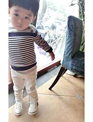 Boy Casual/Daily Solid Striped Sweater & Cardigan,Faux Fur Winter Fall Long Sleeve