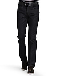 SEVEN Men's Straight Jeans PantsCasual/Daily Street chic Solid Mid Rise Zipper Cotton Micro-elastic Winter