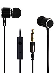 HUAST HST-39 Stereo HeadPhone In Ear Earphone Metal Handsfree Headset with Mic 3.5mm Earbuds For All Phone MP3 Player