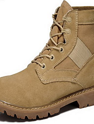 Masculino-Botas-OutroPreto Verde Militar-Pele-Ar-Livre Casual