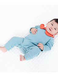 Baby Casual/Daily Solid One-Pieces,Rayon Spring Fall Long Sleeve