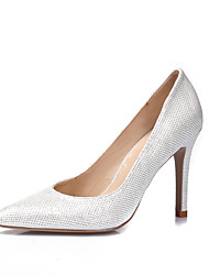 Women's Heels Spring Summer Fall Winter Glitter Wedding Dress Party & Evening Stiletto Heel Gold White Black Silver