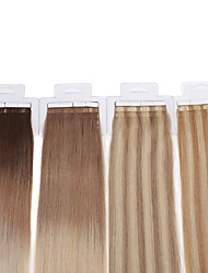 Neitsi 22'' 44g/lot 20Pcs Tape in Human Hair Extensions 100% Straight Remy Skin Weft Ombre