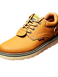 Men's Sneakers Spring Fall Comfort PU Casual Flat Heel Lace-up Black Blue Brown Camel