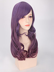 Allaring Hightlight Purple Sexy Daily Wig for European and American Women Body Wave Synthetic Wig with Bang Heat Resistant  Lolita Wig