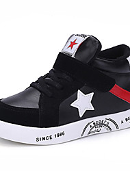 Girl's Athletic Shoes Spring Fall Winter Comfort PU Casual Low Heel Magic Tape Black Red Other