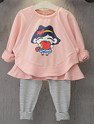 Girl Casual/Daily Solid Sets,Rayon Spring Fall Clothing Set