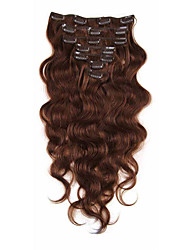 Clip In Human Hair Extensions  Brazilian Virgin Hair 7A African American Body Wave Clip Ins