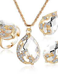 Jewelry 1 Necklace 1 Pair of Earrings Crystal Party Casual 1set Women White Wedding Gifts