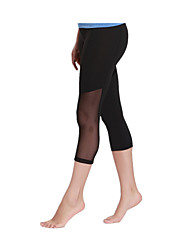 Running Tights Women's Breathable Quick Dry LYCRA® Terylene Yoga Exercise & Fitness Leisure Sports Running Sports Stretchy TightIndoor