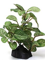 Aquarium Decoration Plants Plastic Green