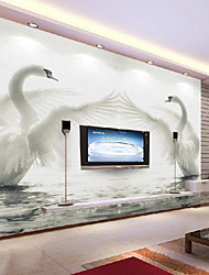 JAMMORY Wallpapers 3D Large-scale Murals Wedding Room Living Room Bedroom TV Background Wallpaper Non-woven Seamless Wall Cloth Swan XL XXL XXXL