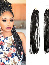 Faux Locs  Brown Color 4 Synthetic Hair Crochet Braids 18inch 90g Kanekalon