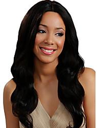 Long Natural Big Body Wave Lace Front Wig Natural Black Color Human Virgin Hair with Baby Hair