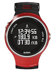 EZON Homens Relógio Inteligente Digital Borracha Banda Preta Vermelho Amarelo