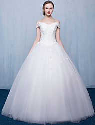 Princess Wedding Dress Floor-length Bateau Tulle with