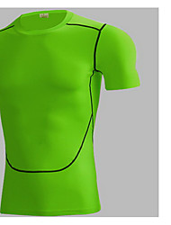 Men's Short Sleeve Running Jersey + Bib Shorts Breathable Quick Dry Comfortable Spring Summer Fall/Autumn Sports Wear Leisure Sports Tight