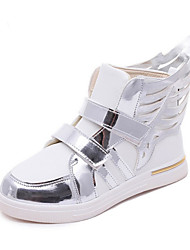 Girl's Athletic Shoes Spring Fall Winter Comfort PU Casual Low Heel Magic Tape Black Red White Other