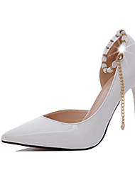 Women's Heels Spring Fall Other Comfort PU Office & Career Dress Casual Stiletto Heel Others Chain Black Pink Red White Light Grey Walking