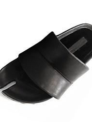Damen-Sandalen-Lässig-PU-Niedriger Absatz-Komfort-Schwarz