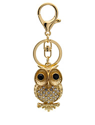 Creative Gold Owl animal cute bag Pendant
