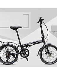 Folding Bike Cycling 7 Speed 20 Inch 40mm Men's Womens Unisex Adult SHIMANO 30 Double Disc Brake