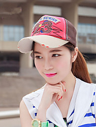 The New Summer Spell Patch Shade Hat Couple Baseball Cap Outdoor Sunscreen Breathable Net Cap