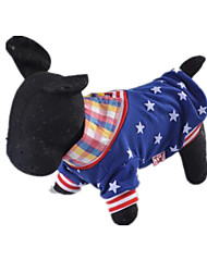 Dog Shirt / T-Shirt Dog Clothes Spring/Fall American/USA Casual/Daily Blue