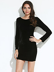 Women's Sexy Bodycon Long Sleeve Mini Dress