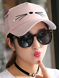 Fashion Spring And Summer New Cartoon Cat Baseball Cap Ladies Tide Cap Canvas Duck Tongue Hat