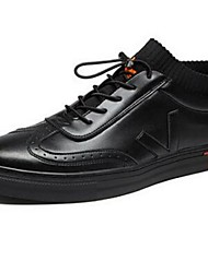 Men's Sneakers Comfort Microfibre Casual Black White