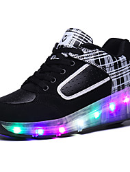 Kids LED Shoes Boy's Sneakers Comfort Synthetic Athletic / Casual Flat Heel LED Black and Red / Black and White