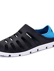 Masculino-Sandálias-Mocassim-Rasteiro-Preto Marrom Cinza Azul Real-Sintético-Ar-Livre Casual